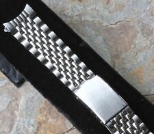 Vintage divers chronograph watch band Beads of Rice 18mm curved end NOS 1960/70
