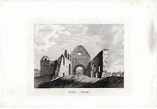 Antiguo escocés impresión GULLANE Iglesia, East Lothian-Hooper en Talla Dulce (1789)