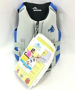 Opa Cove Sea Squirts Blue Dolphin Life Jacket Blue Child-Medium 30-50 lbs New