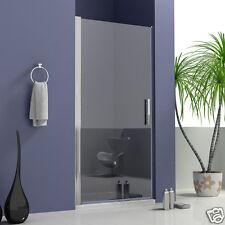900x1850mm Chrome Shower Enclosure Pivot Glass Door Walk In Frameless Screen