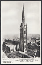 Warwickshire Postcard - Coventry Cathedral Destroyed By German Air Raid  A307