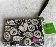 Mickey Mouse Shimmer Zip Pouch Sequins Wrist-Let Wallet Vera Bradley Nwt