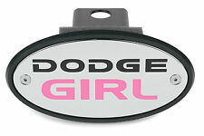 Dodge Girl Chrome Pink Receiver Hitch Cover  Made in USA Great Gift