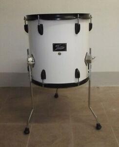 """Fame Maple Standard Stand Tom 14"""" / Floor Tom 14""""x14"""" white, black HW"""