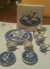 Mini Tea Set Blue Willow 10 piece set complete with lids