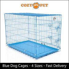 Dog Cage by Cozy Pet Blue Puppy Crates 4 Sizes S M L XL Cat Carrier Transport