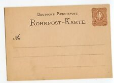 GERMANY EARLY PNEUMATIC POSTAL CARD 25PF, INSIGNIFICANT SOILING          (A447)