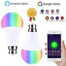 B22 Smart LED Light Bulb 9W WiFi RGB Color Changing App Control Alexa/Google