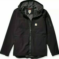 Carhartt Men's Rough Cut Soft Shell Jacket Hooded Black / Gray Size Small