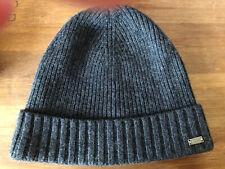 Hugo Boss Beanie Hat Grey 100% Wool
