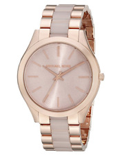 Michael Kors Slim Runway MK4294 Rose Gold Blush Acetate Ladies Watch