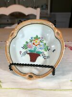 Vintage Lusterware Bowl with Flower Bouquet, Made in Japan