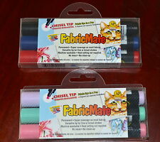 FabricMate Chisel Tip Fabric Dye in a pen - permanent 2 packs