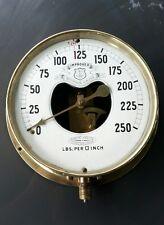 "Vintage Improved Pressure Gauge made by DOBBIE McINNES LTD - Brass 7"" Dial"