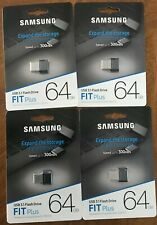 Lot 4 Samsung FIT Plus 64GB USB 3.1 200MB/s 64G Flash Drive MUF-64AB Brand New