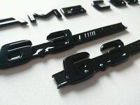 PAIR GLOSS BLACK MERCEDES BENZ 6.3 AMG BADGE C63 S63 ML63 SL63 CLS CLK C E CLASS