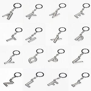 Alphabet Crystal A-Z Letter Key Chains Rhinestone Keyrings Accessories Car Bags