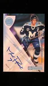 2001 Upper Deck CHL Prospects Game Used Edition #A-JB Mark Popovic Autograph
