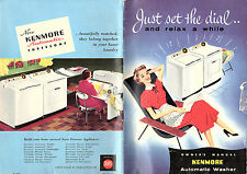 Kenmore Washing Machine Vintage Illustrated Owners Manual Circa 1950's