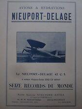 6/1926 PUB NIEUPORT ASTRA AVION DELAGE TYPE 42 C.I 16 RECORDS DU MONDE AD