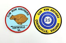 Cub Run Archers Centreville VA Souvenir Sew On Patch Applique Lot Bullseye Bear