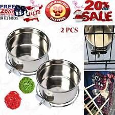 Bird Bowl Parrot Feeder Bird Feeder for Cage - 2 Pcs
