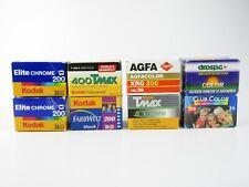 8x 35mm Film film Kodak 200 Elite Chrome 200 TMax 400 Agfa XRG 200 etc.