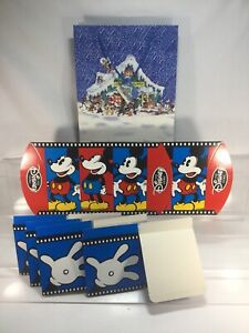 The House Of Mickey Mouse Christmas Gift Bag With Tag  & 6 Disney Boxes New