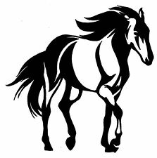 HORSE TROTTING STICKER DECAL, BRAND NEW FOR CAR, FLOAT, TACK, 4WD