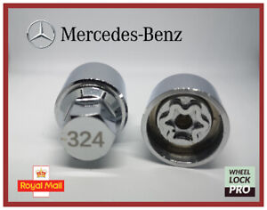 New Mercedes Benz Locking Wheel Nut Key Number 324 - UK Seller