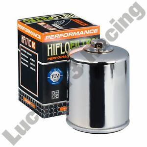 HF171CRC Hiflo Filtro Chrome oil filter Harley Davidson Dyna Fat Boy Softail