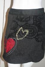 BNWT Desigual Wool Black Skirt Size 34(XS)