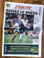 FOOTBALL L'EQUIPE COUPE DU MONDE 1998 FRANCE - ARABIE SAOUDITE DESCHAMPS PARIS