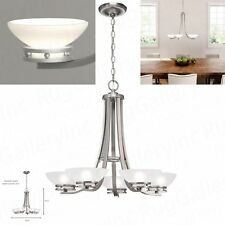 Hampton Bay 5-Light Brushed Nickel Contemporary Chandelier Ceiling MILAWA 89550