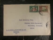 1946 Roseau Dominica Commercial Cover To Food Machinery Hooposton Il USA