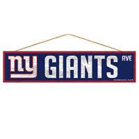 New York Giants Holzschild Türschild 43 cm,NFL Football,Fan Cave Wood Sign