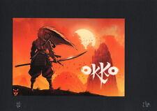 Ex-libris HUB Okko + Pin's 500ex numéroté signé A4
