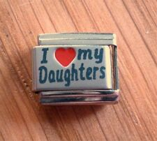 9mm Italian Charms  L72  I love My Daughters Fits Classic Size Bracelets