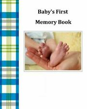 Baby's First Memory Book : Baby's First Memory Book; Baby Boy Plaid by A....
