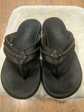 Olukai Mea Ola Dark Java/Dark Java Comfort Flip Flop Men's US size 11 EUR 44