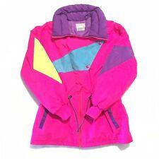 Thinsulate 3M Vintage Gemini Sport Winter Ski Coat Neon Pink/Purple/Yellow Women