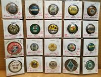 Lot of Vintage Union Pinback Buttons from 1913 - 1970's, IBEW, NJEA, Local54