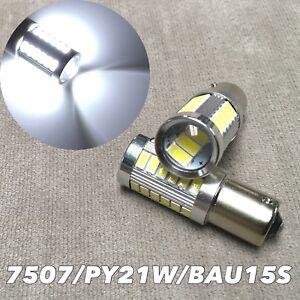 LED FRONT TURN SIGNAL Bulb SMD 6000K White BAU15S 7507 PY21W FOR BMW MINI LR2