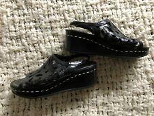 Donald J Pliner Sonja Womens Black Wedge Slingback Sandals 7 Strappy
