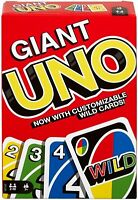 Mattel - Giant UNO Card Game - 108 Huge Jumbo Cards - New Sealed - In Stock