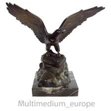 Art Deco Adler Messing Bronze Figur patiniert eagle brass statue 🌺🌺🌺🌺🌺