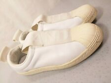 Adidas Sneakers Size 7 1/2 White No Lace The Brand 3 Stripe 5.19