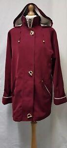 Womens David Barry Burgundy Mac Coat Size 14 Womens Trench Coat Womens Jacket