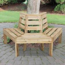 Timber Garden Tree Seat Bench Chair