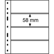 OPTIMA pochettes plastiques 4 compartiments, noir - Réf  331859.